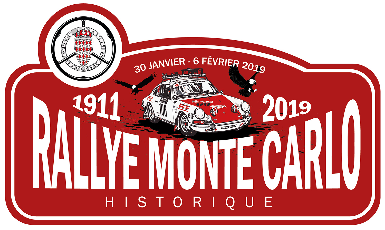 touringers rallye de monte carlo historique 2019 vente plaque de rallye. Black Bedroom Furniture Sets. Home Design Ideas